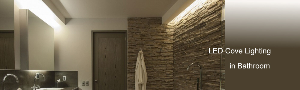 recessed LED lighting in bathroom