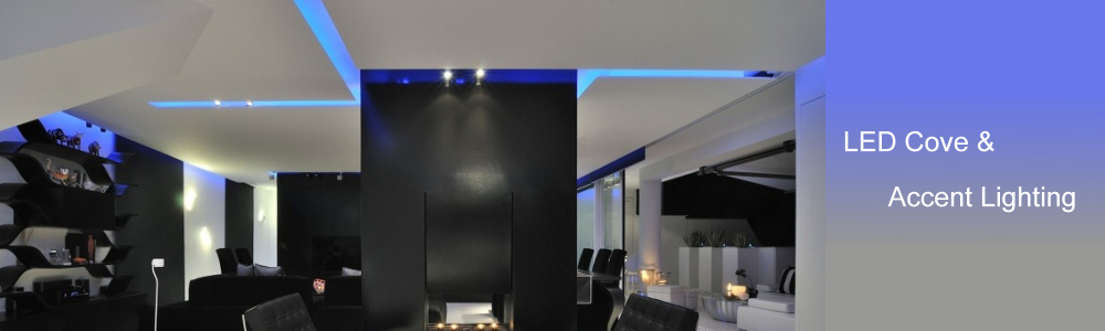 blue LED accent lighting strips