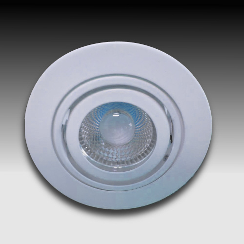 3 inch round LED gimbal trim with MR 16 bulb
