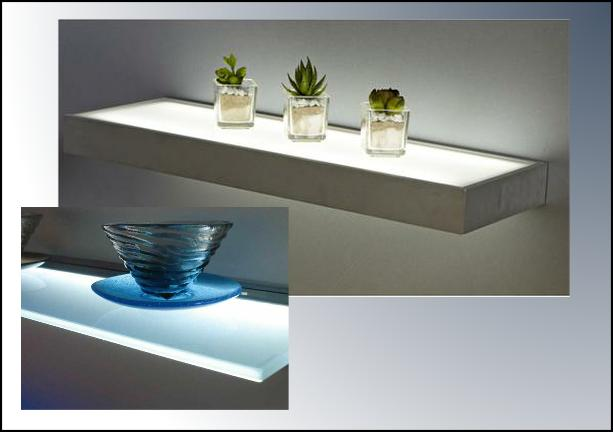 LED Glass Shelves