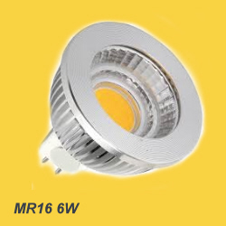 MR16 LED lamp with silver housing