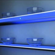 LED lighted glass shelves in homes or bars