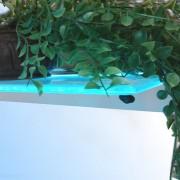 LED glass shelf for accent lighting