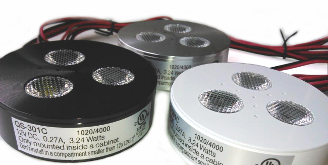 LED puck lights 3W for surface or recessed applications