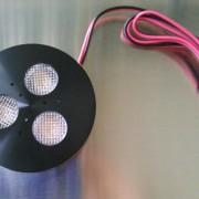 black LED puck light