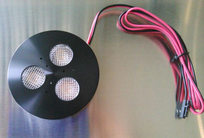 black LED puck light