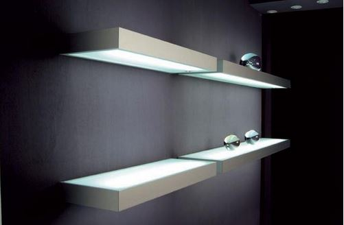 decorative LED glass shelves