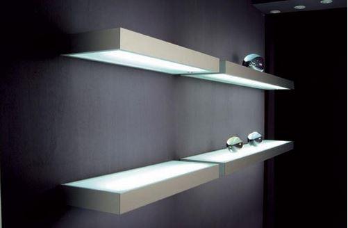 decorative LED glass shelves
