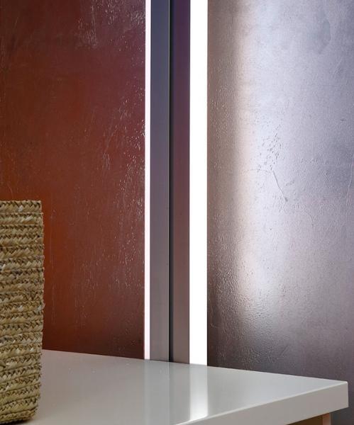 small angled LED lighting fixture