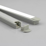 recessed LED linear lighting fixture