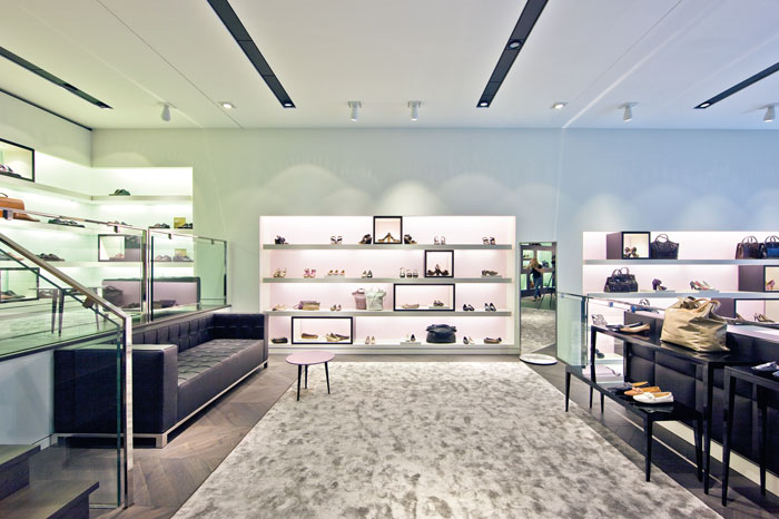 LED backlighting for open shelves and displays