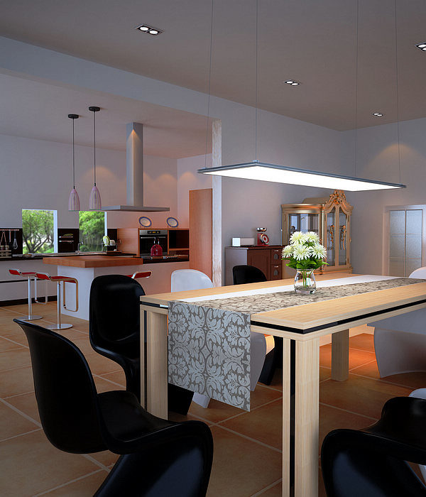 LED panel lighting, suspended