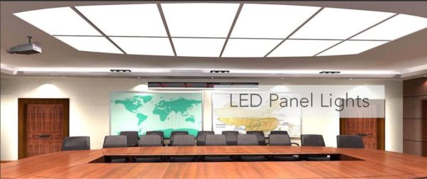 recessed LED pane;s for overhead lighting