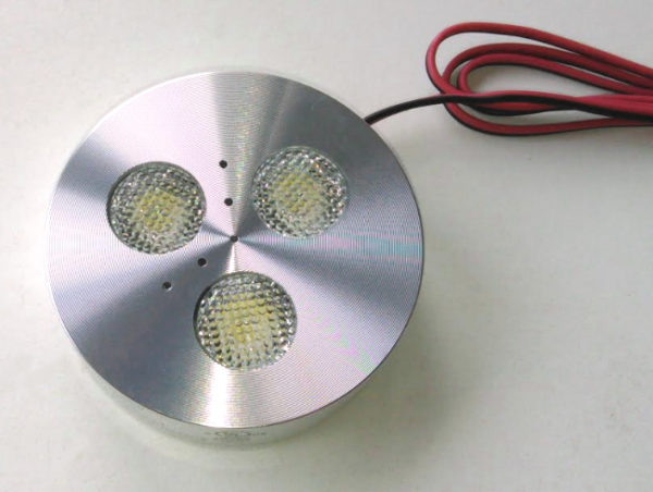 brushed nickel LED Puck light