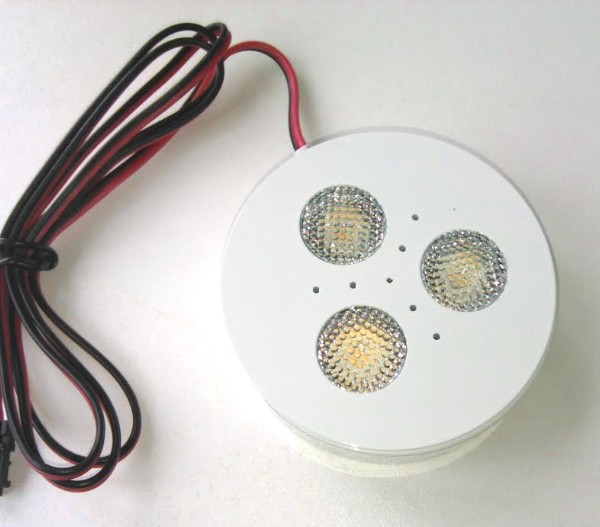 White LED puck light