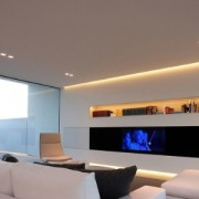 LED strip lighting in crown molding