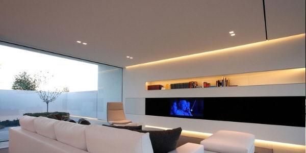 LED strip lighting in crown molding