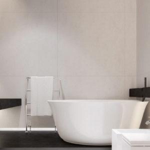 LED accent lighting in modern bathroom