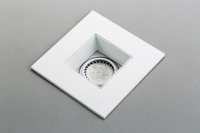 recessed white LED gimbal trim