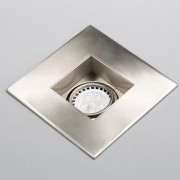 brushed nickel recessed LED gimbal trim