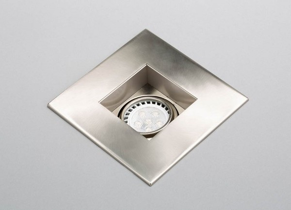 brushed nickel recessed LED gimbal trim