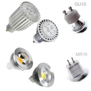 GU10 and MR16 LED bulbs