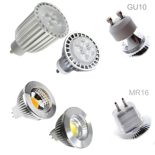 GU10 and MR16 LED bulbs